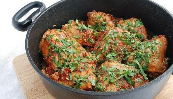 Одно из вкуснейших блюд грузинской кухни — Чахохбили - Любимые рецепты