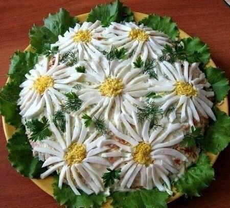 """ТОП-10  """"цветочных"""" салатов"""
