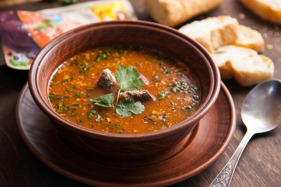 Суп Харчо — такой наваристый и остренький