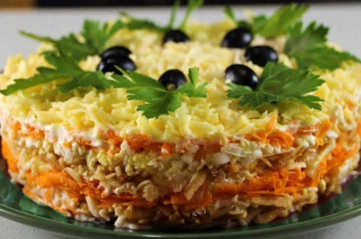 Нежный и вкусный салат Французский
