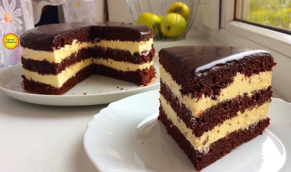 Торт без весов или стаканчиковый торт с вкусным кремом