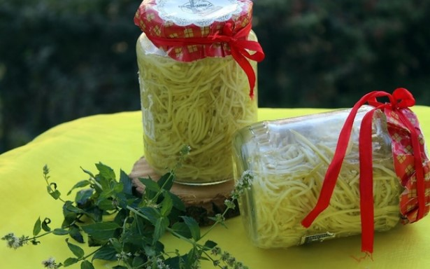 Лапша (спагетти) из кабачков на зиму